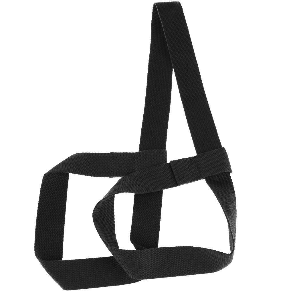 Miracle Shining Adjustable Yoga Mat Sling Strap Shoulder Carry Belt Stretch Band Black