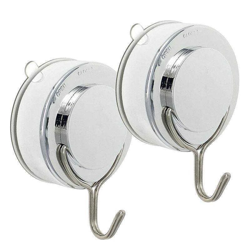 Suction Hook 2 Pack Vacuum Stainless Steel Suction Cup Hooks,Triple Hooks Wall Hook,Bath Towel Hook,Heavy Duty Holds Up To 18LB Suction Cup Wall Hooks,Kitchen and Bathroom Hangers