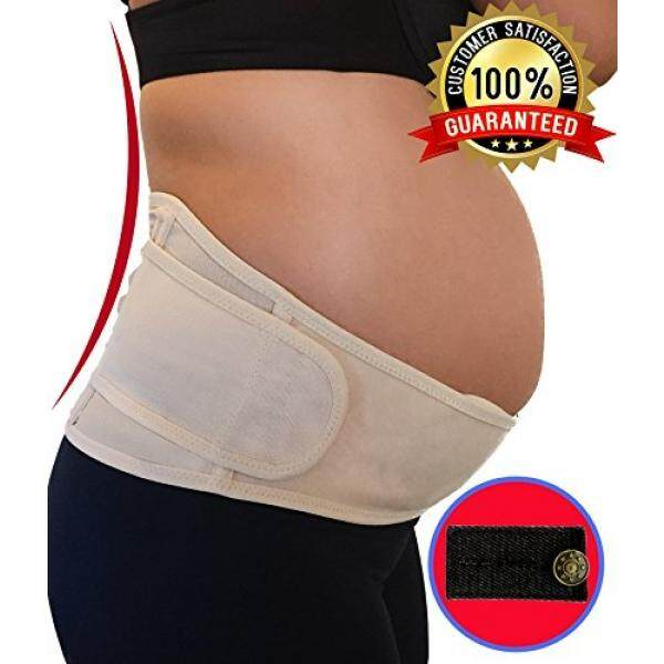 Maternity Belt Support for Back, Pelvic, Hip, Abdomen, Sciatica Pain Relief 2nd-3rd Trimester Adjustable Belly Band for Pregnancy Brace - Comfortable Girdle for Running, Walking, Sitting - intl