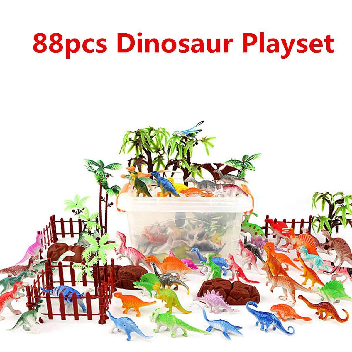 Plastic Farm Yard Wild Fence Tree Animals Model Kids Toys Figures Play Set 88pcs By Glimmer.