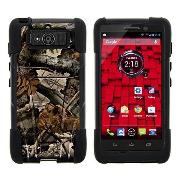 Smartphone Case S Case S Turtlearmor Motorola Droid Mini Case XT1030 [Gel Max] Hibrida Lapisan Rangkap Keras Shell Silikon Bisa Berdiri Case- daun Pohon Kamuflase-Intl