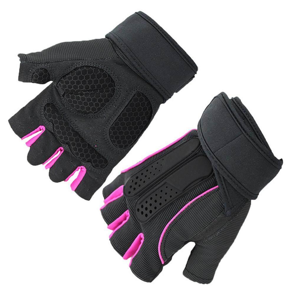 ถุงมือนิ้วสั้นระบายอากาศและป้องกันการลื่นบันไดกระเป๋าผ้า - รอบสายรัดข้อมือ M-Xl By Blueskytoy158.