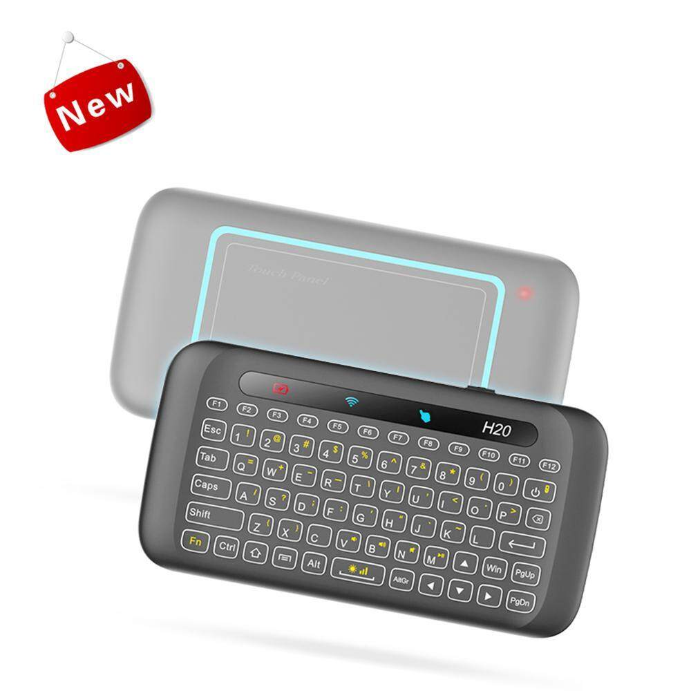 niceEshop Air Mouse H20 Wireless Mini-Keyboard Two-Sided Touch GRB Backlit Keyboard With