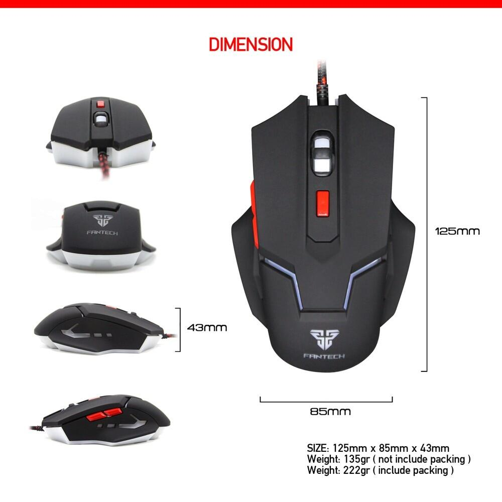 Fantech Uther V4 2400 Dpi Led Optical 6d Usb Wired Gaming Mouse With Pro Rhasta G10 Chroma 4 Button Image