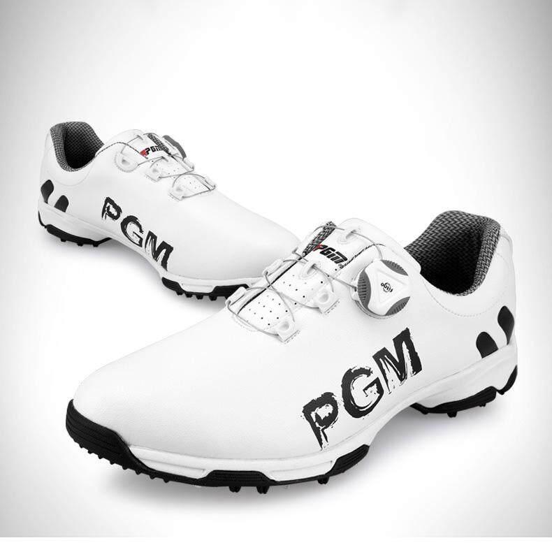 Ukuran 39 45 Sepatu Golf Pria Anti Air Sepatu Olahraga Tombol Gesper ... c6d1e3ccdd