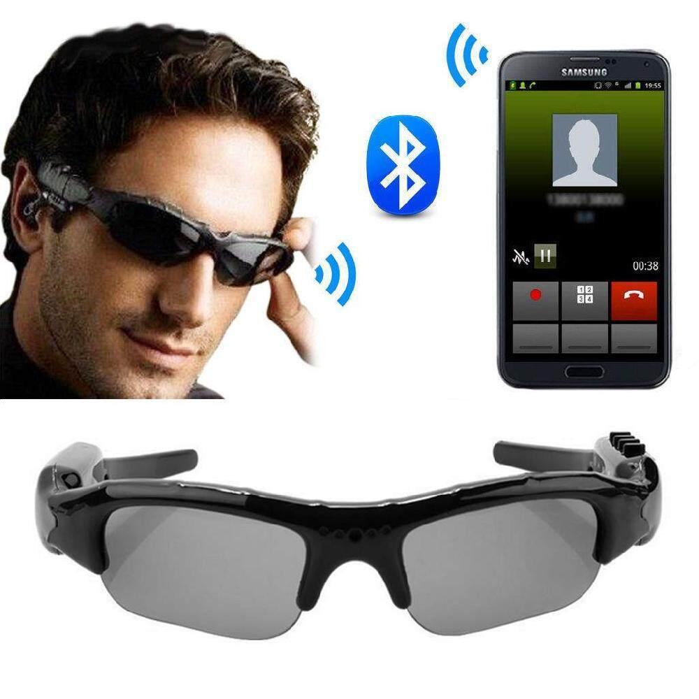 Sway Bluetooth 4.1 smart glasses HD 1080P camera glasses Can photo music riding sun glasses - intl