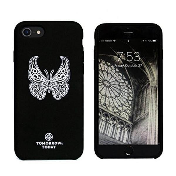 Sarung Telepn Seluler Besok Hari Ini Klasik Seri: kupu-kupu Ponsel Case untuk iPhone 8 dan iPhone 7 Ultra Mewah Ubersoft Ditingkatkan Silicone-Intl