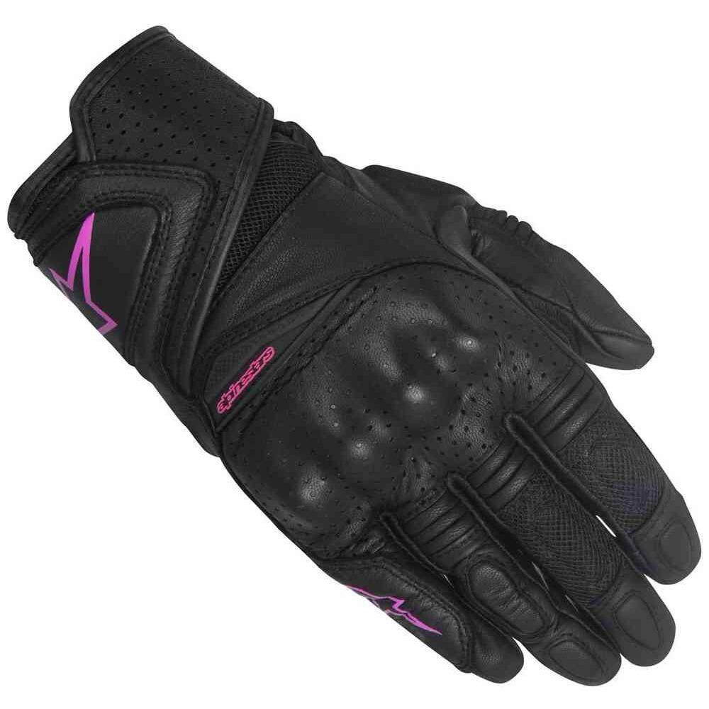 ALPINESTARS STELLA BAIKA LEATHER GLOVE for Women (Fuchsia/Black) - [ORIGINAL]