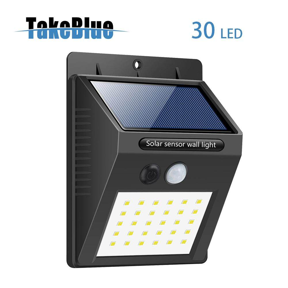 TakeBlue 3 Intelligent Mode Motion Sensor Solar Light , 30 LED Waterproof Solar Panel Outdoor Lamp