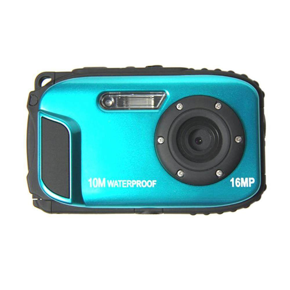Tahan Air Olahraga Kamera DV Portable 2.7 Inch Yang Tepat 16MP Anti-Shake 10 M 8x Zoom Kamera Digital HD
