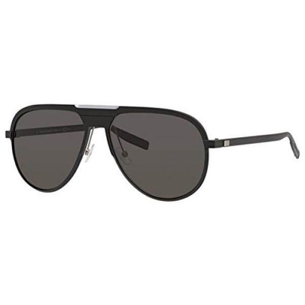 Christian Dior AL 13.6/S Sunglasses Matte Black / Brown Gray