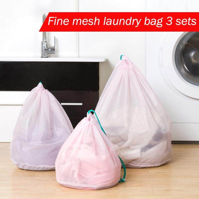 Abh 3pcs Set Clothes Laundry Mesh Net Bag Pouch Basket For Washing Machine By All About Home.