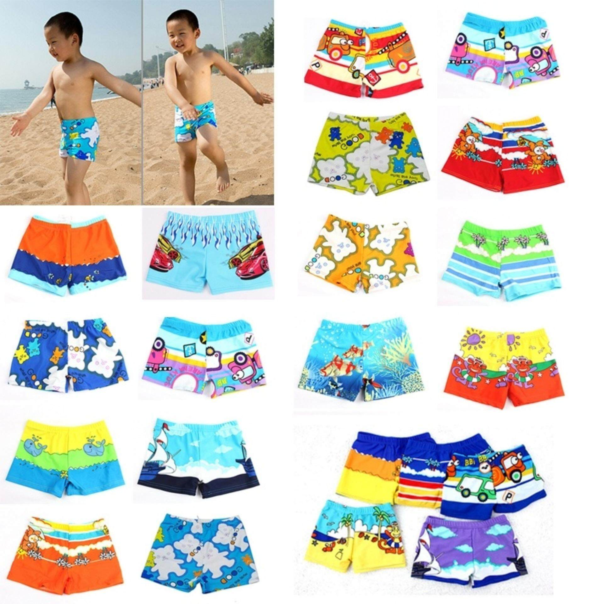Baby Boy Swimwear Cartoon Pattern Surfing Swim Trunks For Kids Colors Random Medium - Intl By Bloom Zoom.