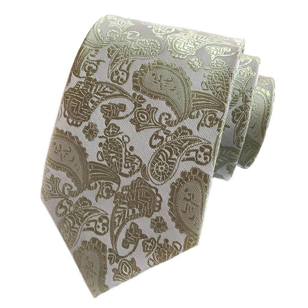 ca5155055955 Bigood 8cm Paisley Jacquard Wedding Business Formal Necktie Shirt Tie for  Men