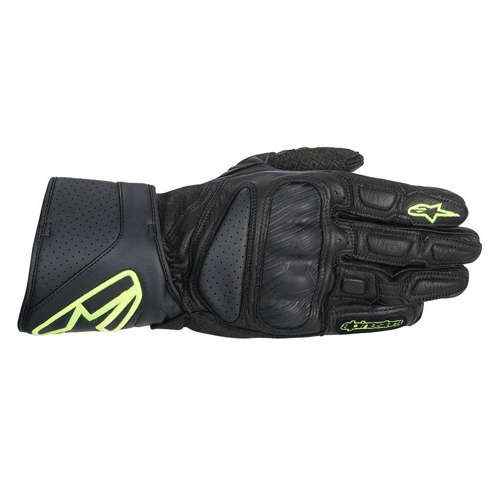 ALPINESTARS SP-8 LEATHER GLOVE (YELLOW/BLACK) - [ORIGINAL]