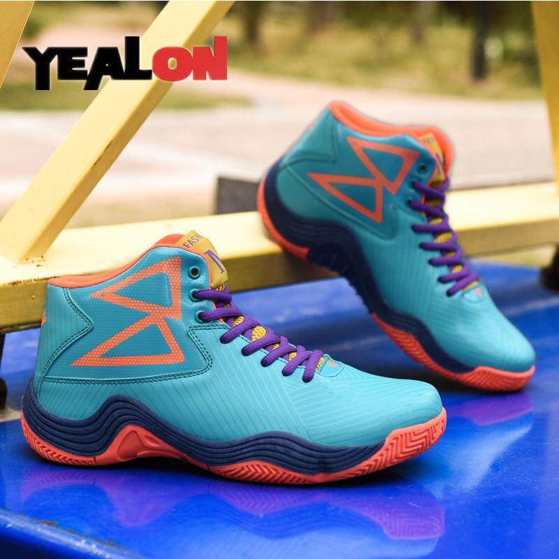Yealon Sepatu Basket Pria Sepatu Luar Ruangan Profesional Cleat Sepatu  Basket Atasan Tinggi Sneakers Sepatu Fashion e06a9dd523