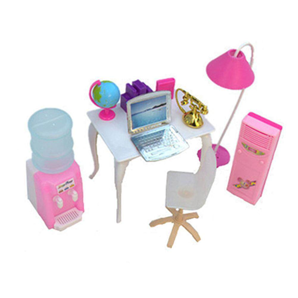 Wonderful Toy Dolls Accessories Pretend Play Furniture Set Toys for Barbie Dolls as Xmas Gifts for Kids Style:office color random Multicolor