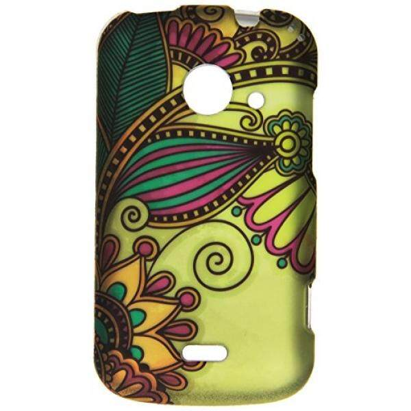Smartphone Cases HR Wireless ZTE Zinger Prelude 2 Z667 Rubberized Design Cover - Retail Packaging - Antique Flower - intl