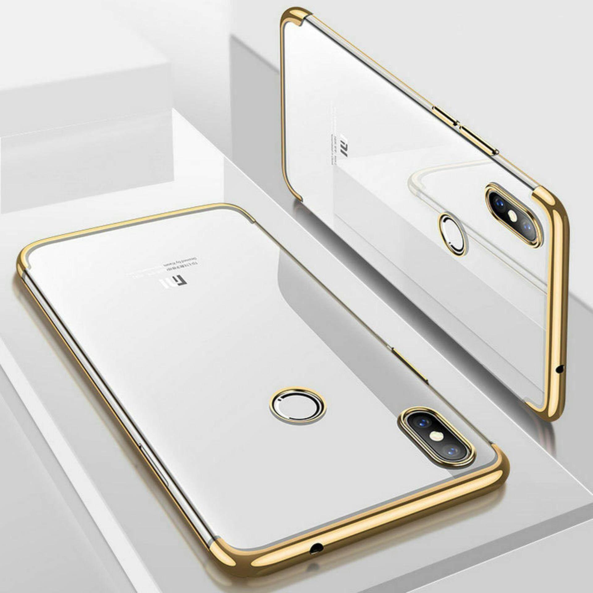 Untuk Xiaomi Mi Mix 2 S Plating Transparan Ultra Ramping Tpu Lunak Bening Casing Belakang Cover