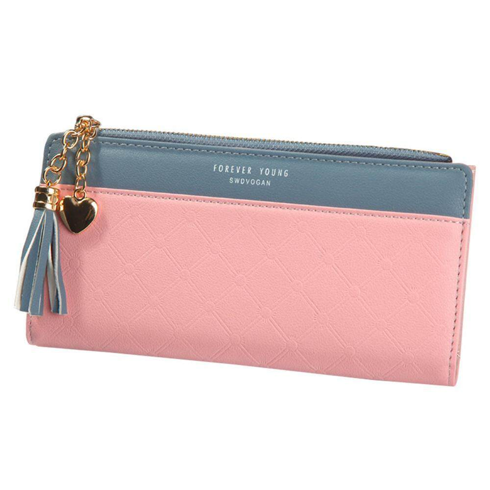 Luggage & Bags Pink Leather Small Wallet For Girls Cute Red Heart Mini Organizer Coin Purse Women Wristlets Clutch Purse Bank Card Holder Convenience Goods Wallets
