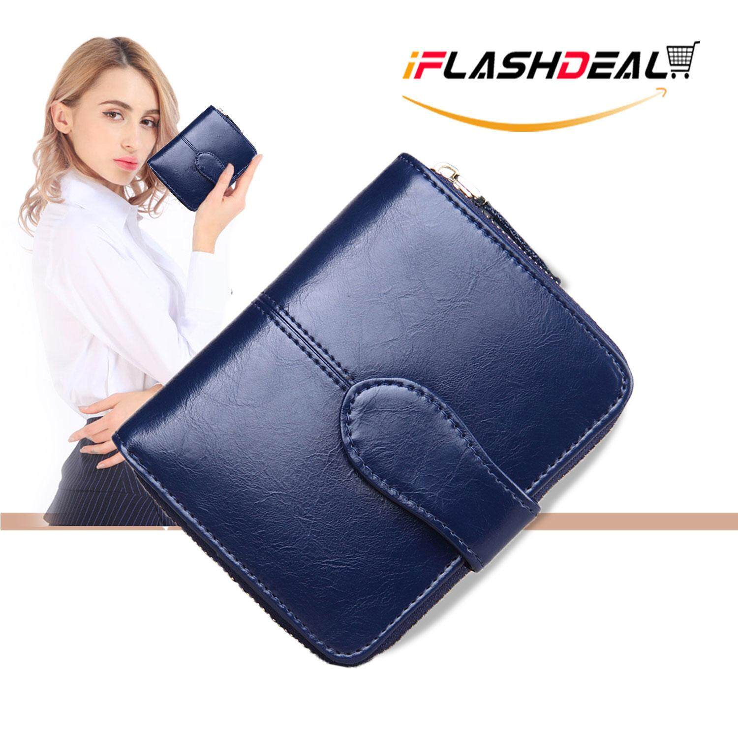 Iflashdeal Women Small Wallet Purse Card Holder Pu Leather Sling Mini Ladies Wallet Coin Pocket Zipper Clutch By Iflashdeal.
