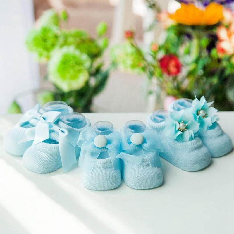 3 Pasang Linfang Anak-Anak Yang Indah Manis Busur Lembut Rajutan Kualitas Tinggi Non-Slip Sepatu-Intl By Linfang Store.