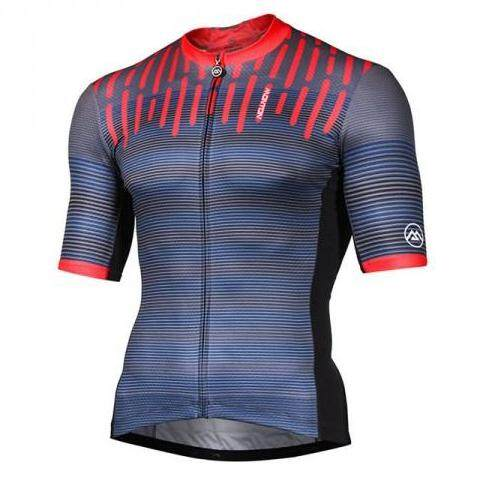 MONTON MENS CYCLE JERSEY LIFESTYLE SYLPHY GRAY RED