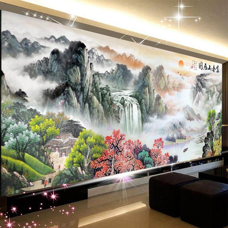 Diamond Embroidery,Full,DIY,5D Diamond Painting Dwelling in the Fuchun Mountains landscape paint ing,Cross Stitch,Diamond Mosaic,Bead Picture,Home Decor