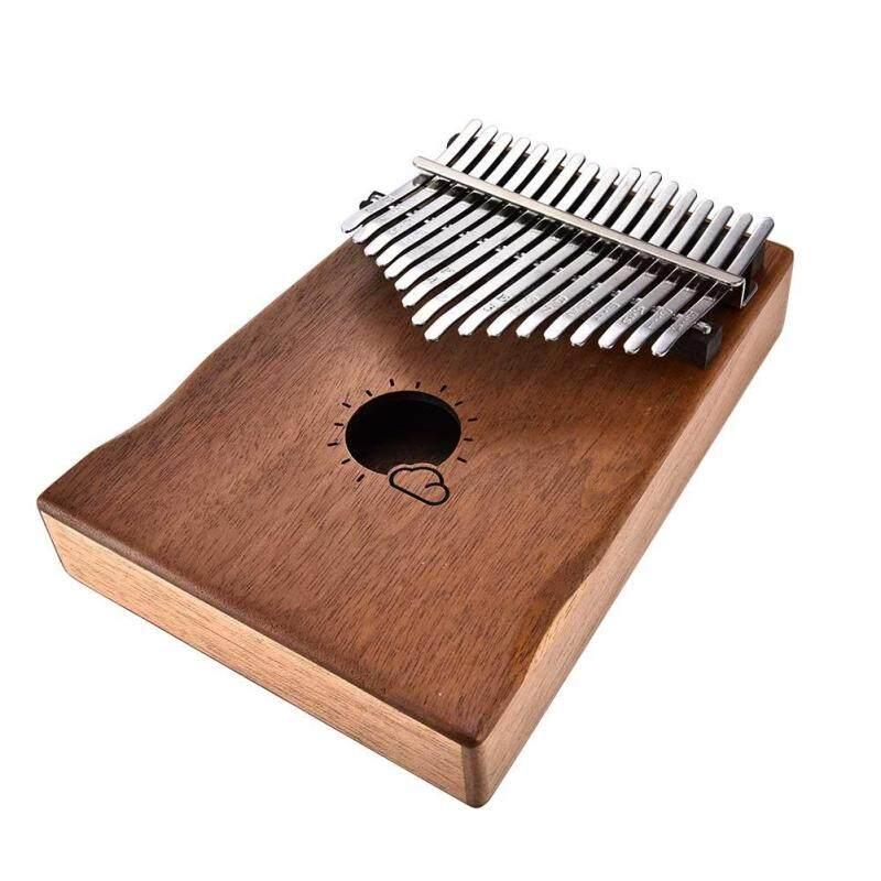 DE Professional 17 Keys Kalimba Mbira Likembe Solid Mahogany Wood Thumb Piano Finger Percussion Malaysia