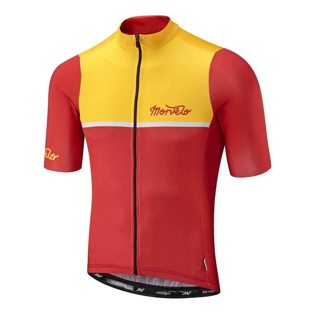 Morvelo Lengan Pendek Jersey Sepeda Celana Pakaian Set Bersepeda Balap Bersepeda Olahraga Pakaian Bersepeda
