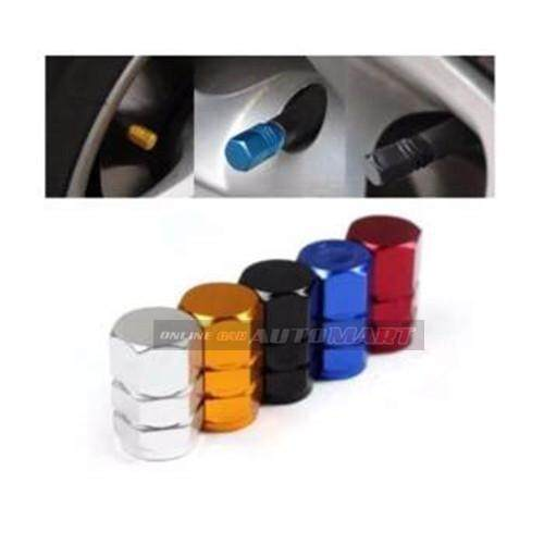 4pcs Aluminium Alloy Tyre Valve Tyre Cap Valve Stem Air Caps Airtight Cove GOLD