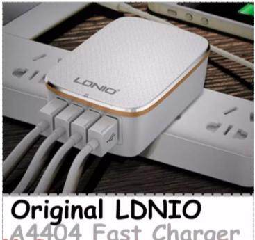 Original LDNIO A4404 Travel Phone Charger 4 Ports 4.4A Fast Charge