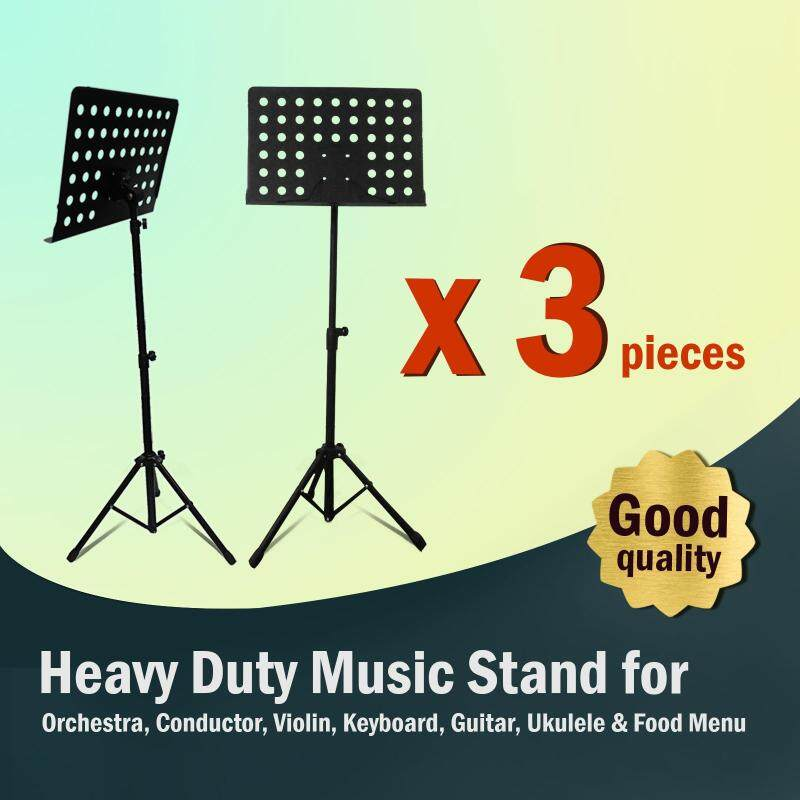 [3 in 1 Value Pack] Heavy Duty Music Stand for Orchestra, Conductor, Violin, Keyboard, Guitar, Ukulele & Food Menu (High Quality) Malaysia