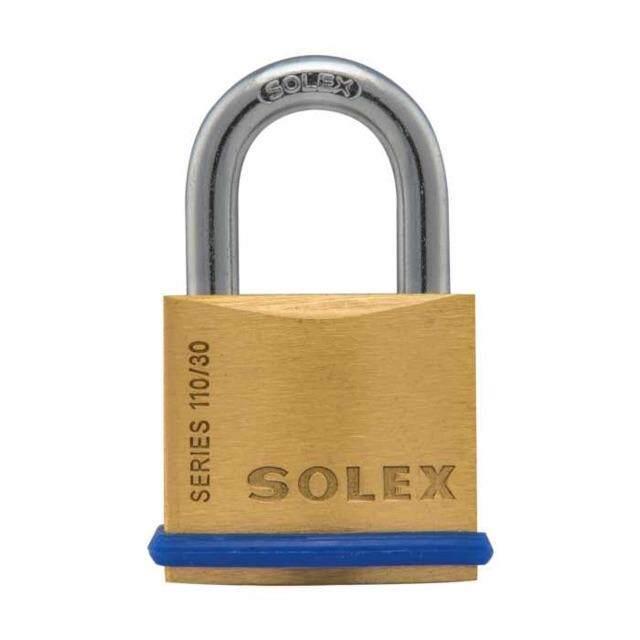 SOLEX BRASS PADLOCK - SPRING SYSTEM (MADE IN THAILAND)