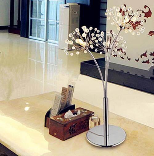 LED Crystal DandelionFloor Lamp Modern SimpleLiving Room Bedroom Crystal lamp Wedding Dress Shop Floor Lamp Study Dandelion Light