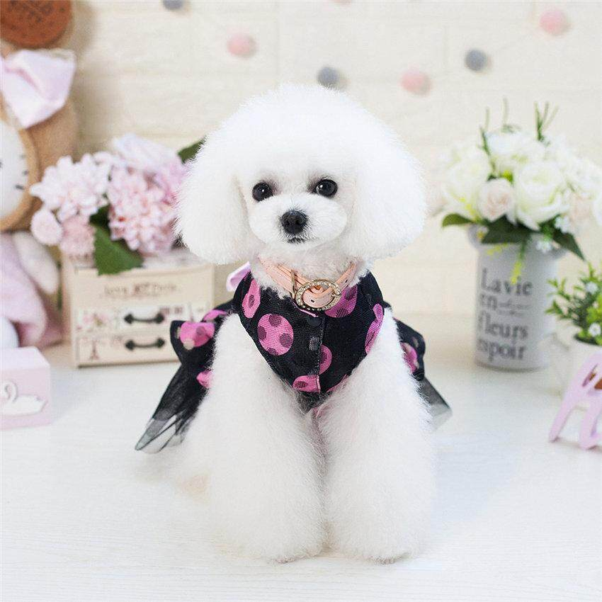 Hình ảnh Romantic Lovely Net Mesh Dot Dog Clothes Princess Dress Dog Costume Cat Clothes for Dogs for Small Dogs