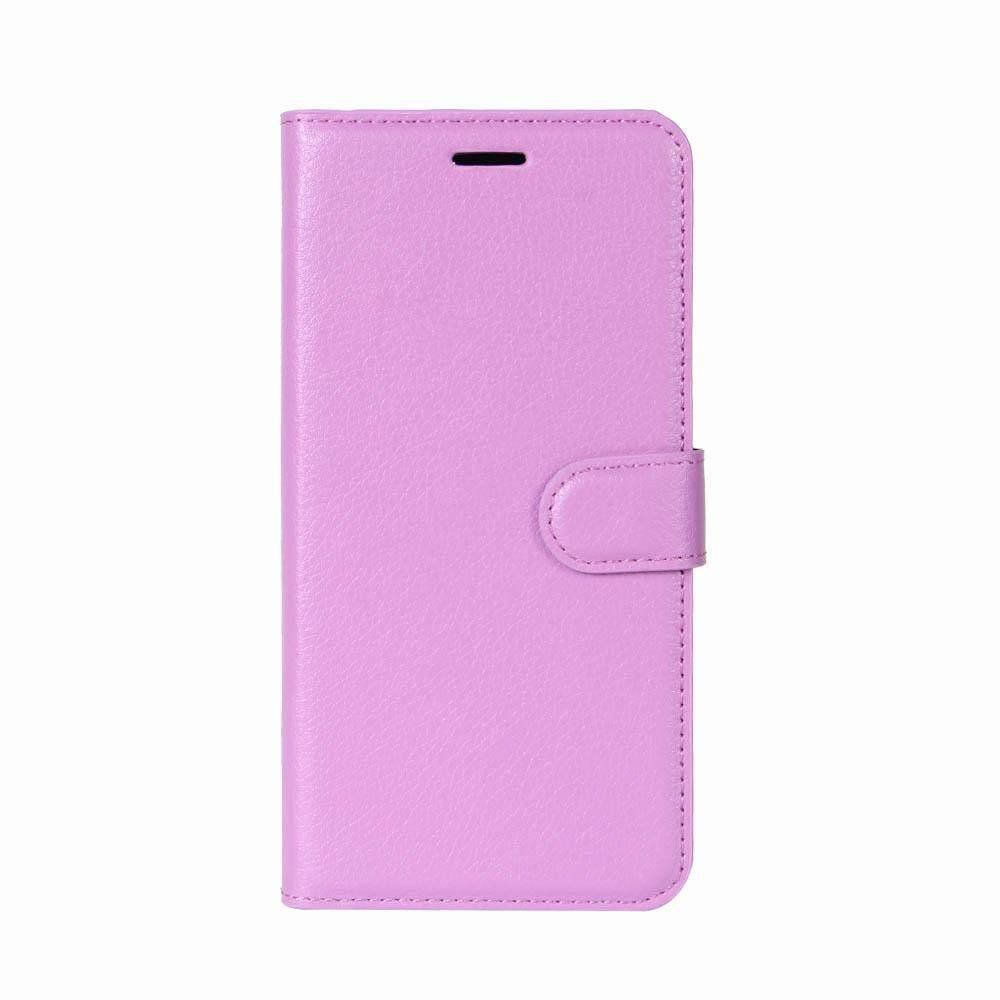 Moonmini Case Anda Oukitel K10000 Pro Case Warna Murni Lichee Belakang Sarung Lipat Penyangga Penyimpanan Kartu Anti-Shake Menggaruk tahan Ponsel Case-Internasional