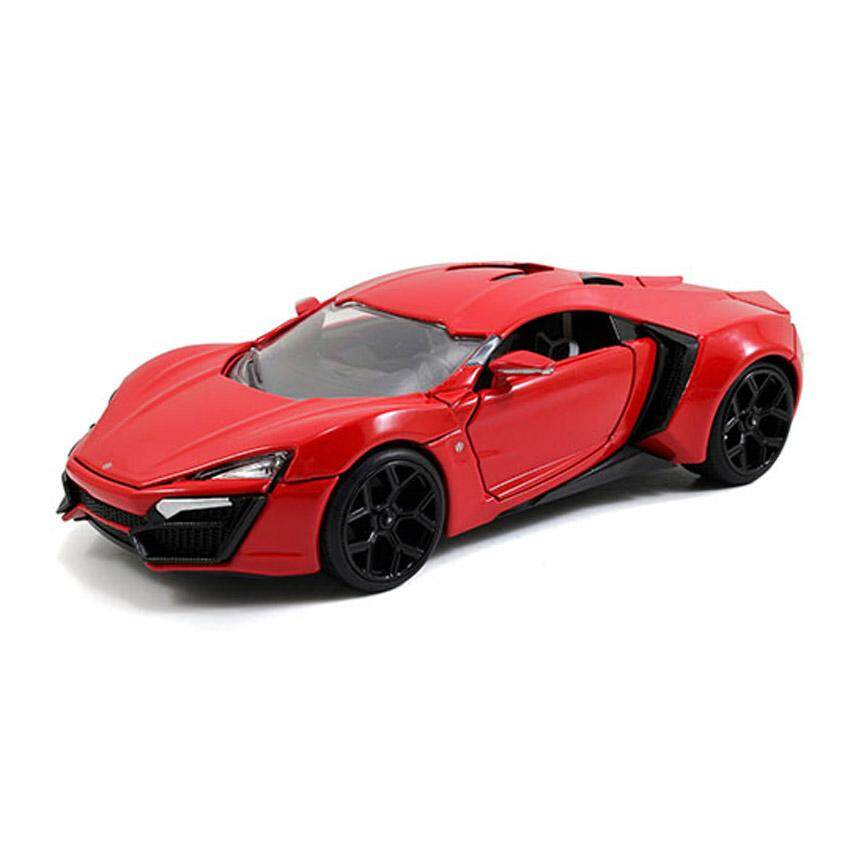 Jada Fast & Furious 8 1:24 DIECAST Lykan HyperSport Car Red Model Collection