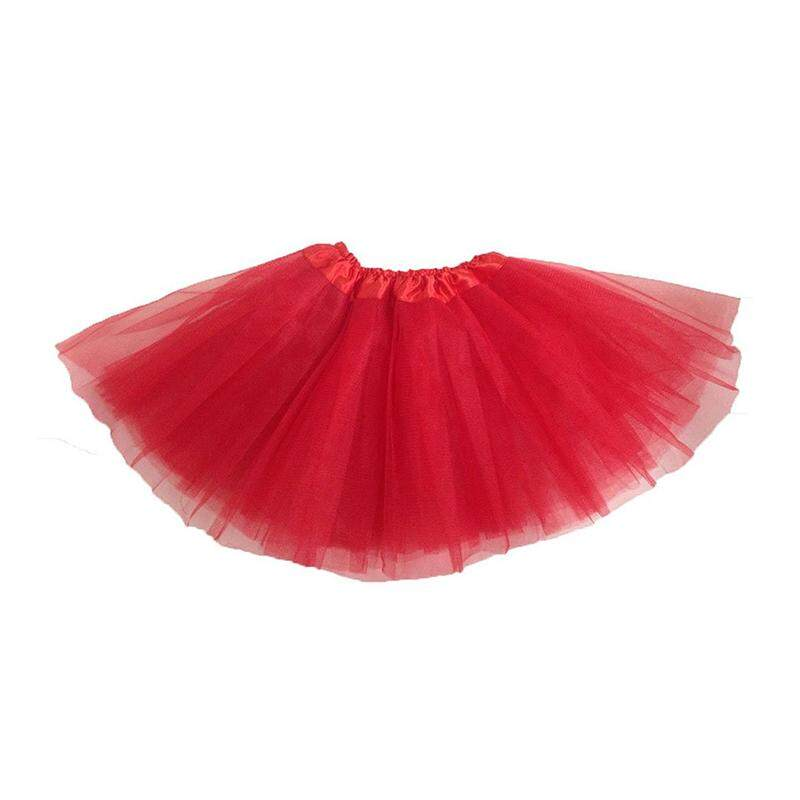 Girls Modern Ballet Dress Fairy Tutu Skirt Red By Shakeshake.