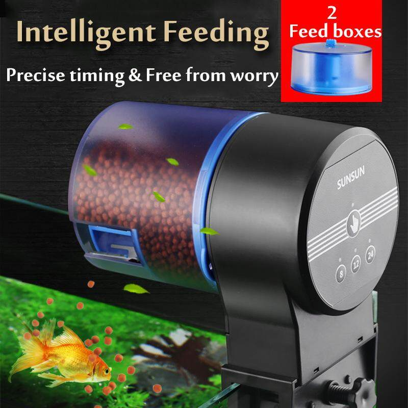 Automatic Fish Feeder Two Boxes Intelligent Electronic 3 Timing Mode Fish Tank - Intl By Audew.