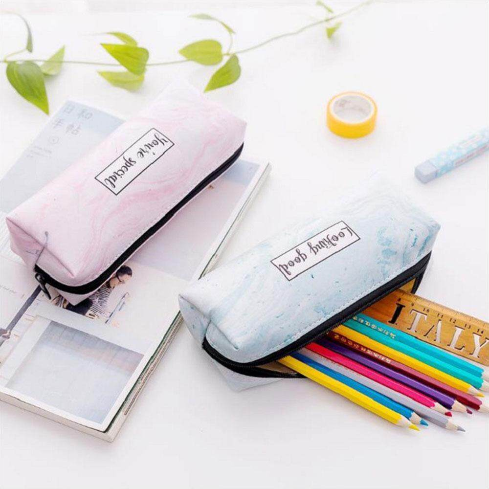 Various color octagonal pencil cases (17.5*6.5*5cm, PU, OPP)