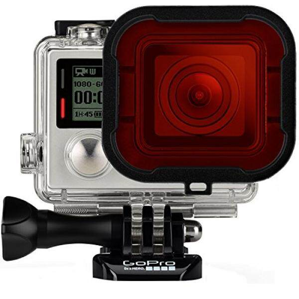 Fosmon Diving Housing Filter with Mounting Frame Accessory for GoPro HERO3+ / HERO4 Black / HERO4 Silver