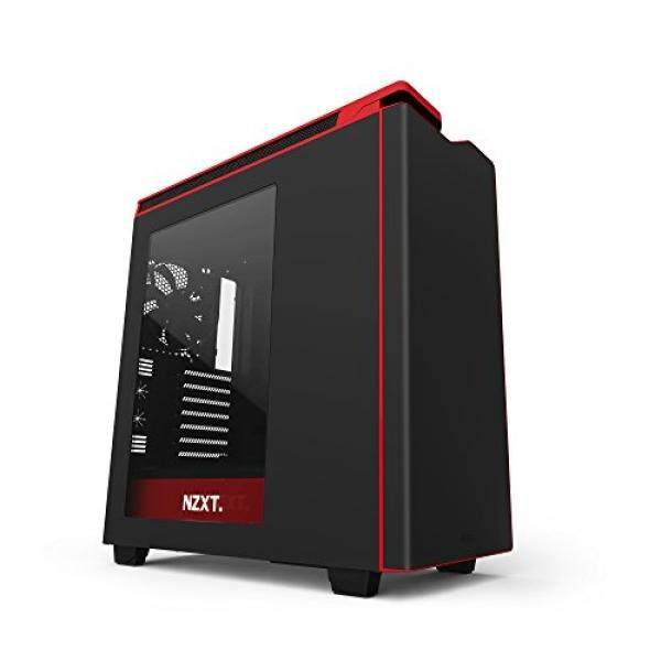 Nzxt H440 Mid TowerComputer Case, Matt Black/Red/w Window (CA-H442W-M1) Malaysia