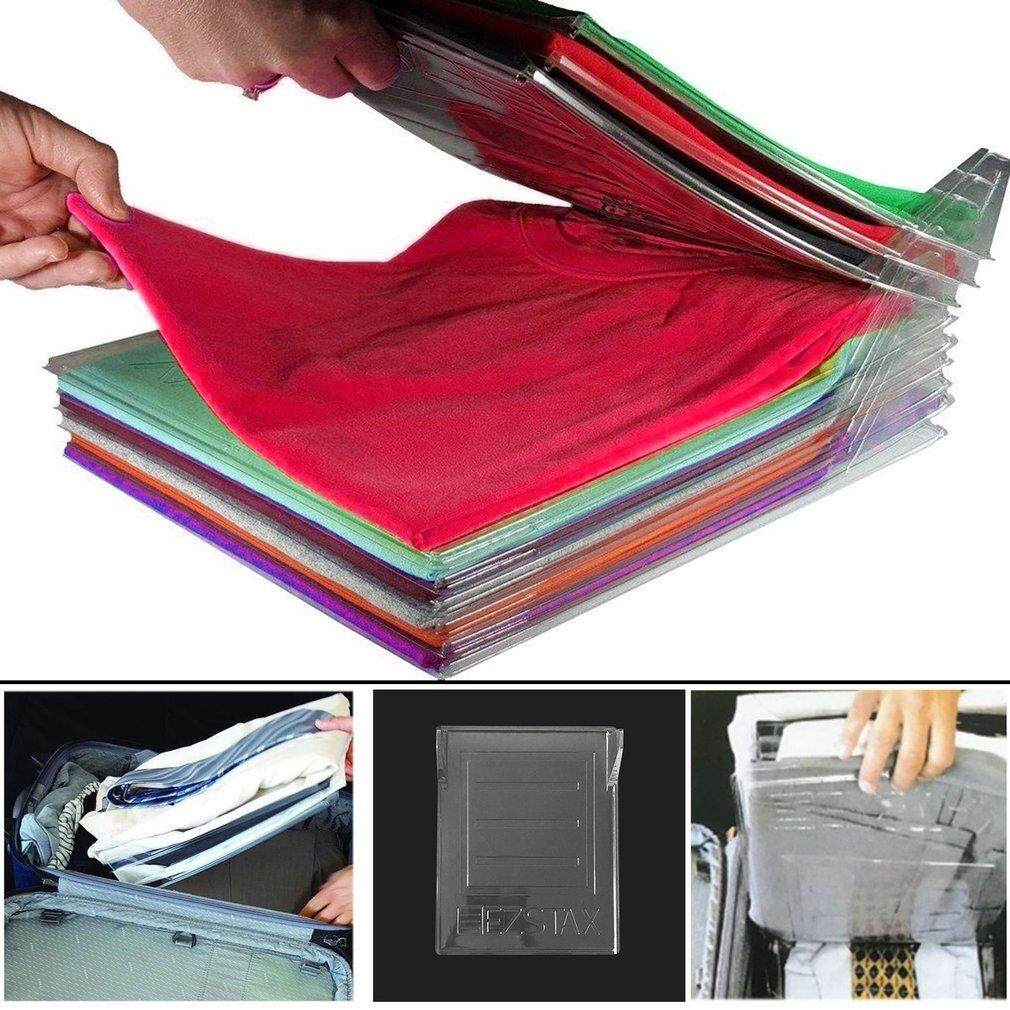 ELEC Clothes Fold Board Clothing Organization System Travel Closet Drawer Stack - intl