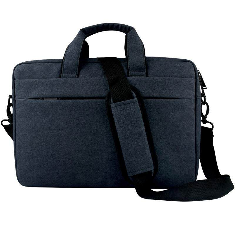 Breathable Wear-resistant Thin and Light Fashion Shoulder Handheld Zipper Laptop Bag with Shoulder Strap, For 14.0 inch and Below Macbook, Samsung, Lenovo, Sony, DELL Alienware, CHUWI, ASUS, HP (Navy Blue) - intl