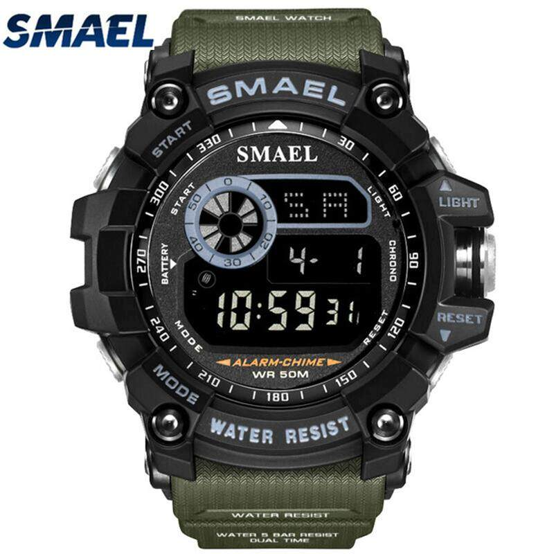 SMAEL Mens Watches Sport Casual LED Digital Watch Top Brand Luxury Waterproof Military Electronic Watch Men Clock bán chạy
