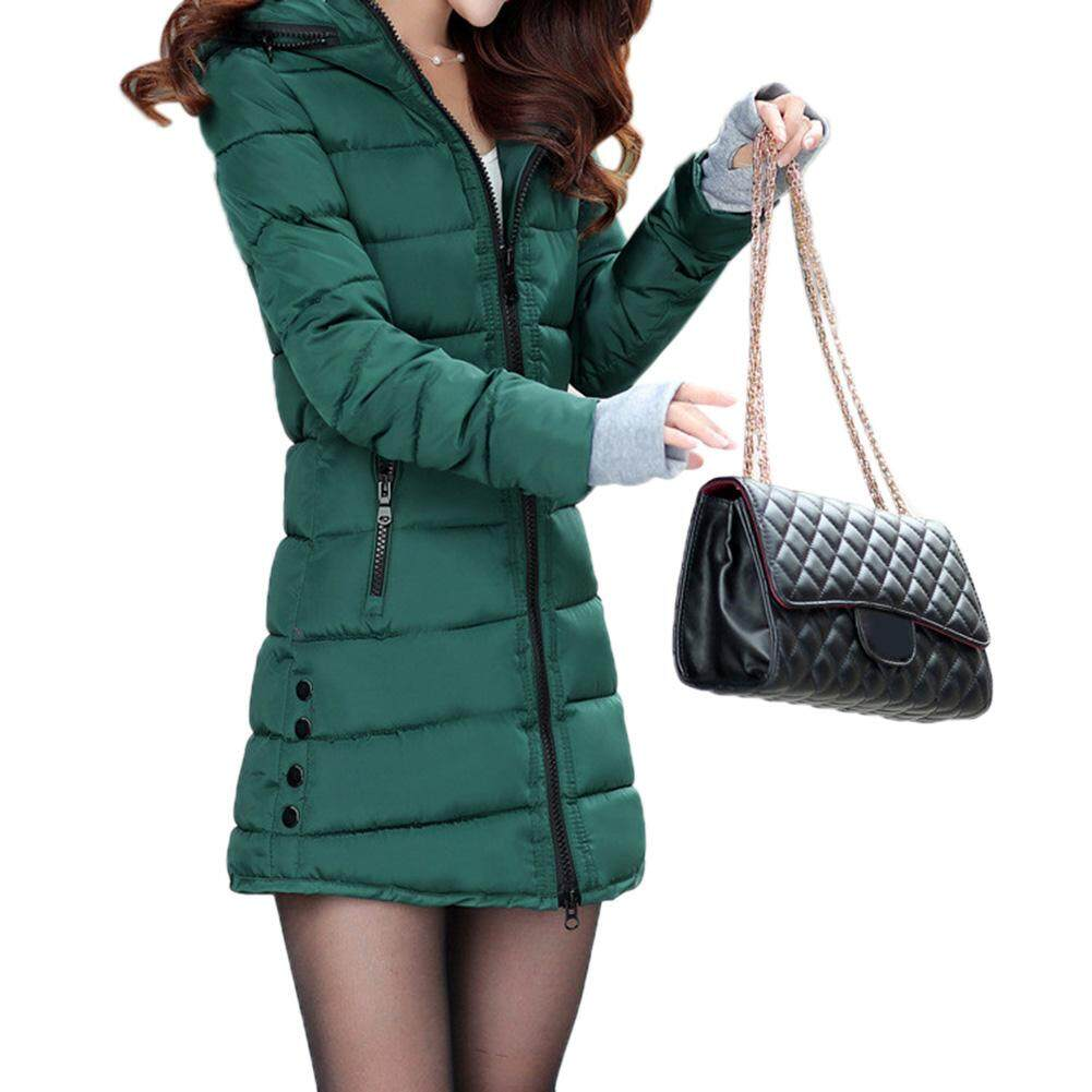 388cb29d0fd2a Veecome Women Zipper Warm Jackets Hooded Cotton Coat for Winter Lady  Clothing
