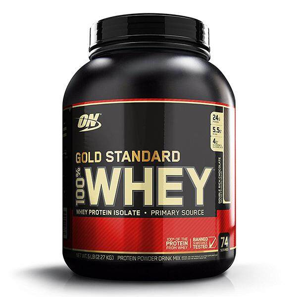Optimum Nutrition Gold Standard 100% Whey, Double Rich Chocolate, 5lbs