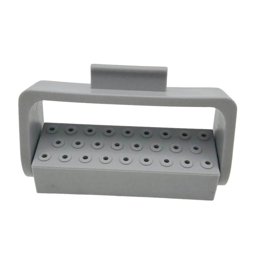 Miracle Shining Teeth Tool 26 Holes Endo Bur Files Block Holder Autoclave Box Grey