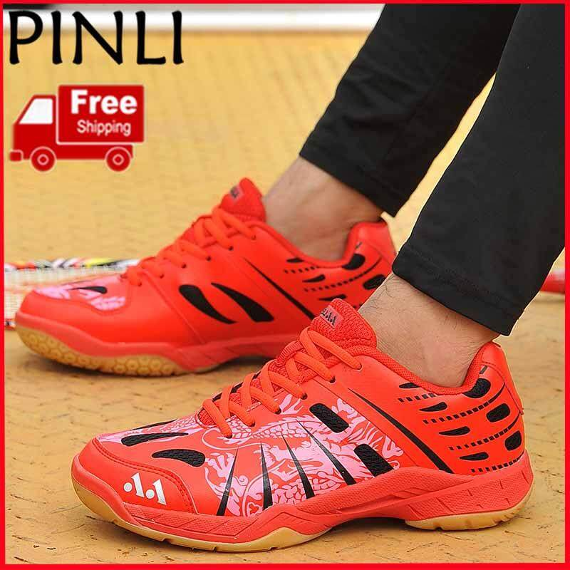 PINLI [Free Shipping] Size 35-45 Couple Badminton Shoes Tennis Shoes Ladies Sports